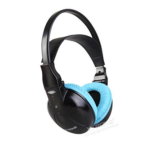 Xtrons IR inalámbrico dual canales infrarrojos estéreo inalámbrico auriculares 2 canales para niños con transmisor IR incorporado