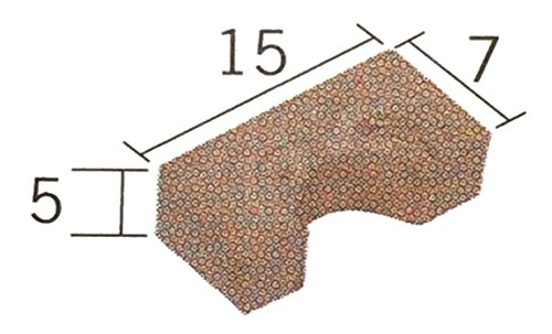 Aedes 2232. Arco romanico 15x7mm en ceramica. Escala 1/20. Bolsa de 25 unidades