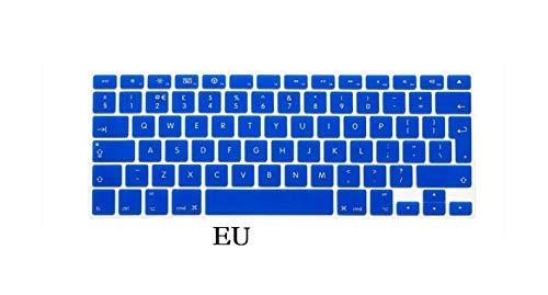 EU US English Keyboard Skin for Macbook Pro 13 15 CD ROM A1278 A1286 Keyboard Cover Slim Waterproof Skin Film Protector-EU-Blue