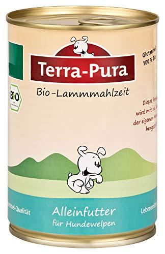 Terra Pura Bio Hondenvoer Lammmahlzeit Pups glutenvrij, 12er Pack (12 x 400 g)