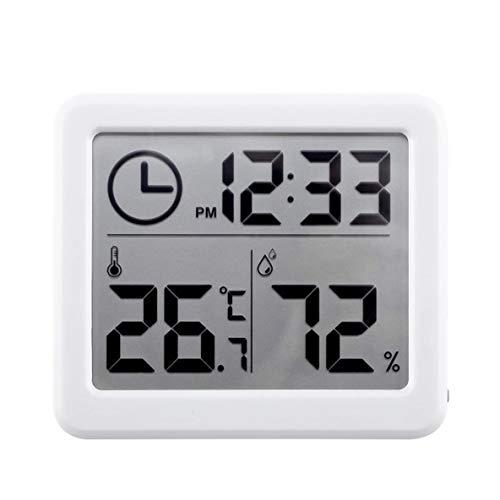 nbvmngjhjlkjlUK Termómetro para Interiores, medidor de Temperatura y Humedad Digital portátil con Pantalla LCD Tiempo de Respuesta rápido Plástico ABS de Alta precisión (Blanco)
