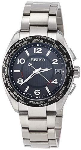 [セイコーウォッチ] 腕時計 ブライツ BRIGHTZ(ブライツ) 20周年記念限定モデル ソーラー電波 チタン ワールドタイム表記 「B」マーク針・りゅうず SAGZ107 メンズ シルバー