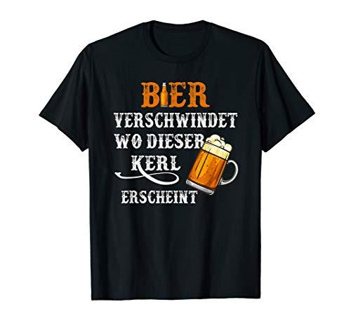 Lustig Bier Verschwindet Wo Dieser Kerl Erscheint T-Shirt
