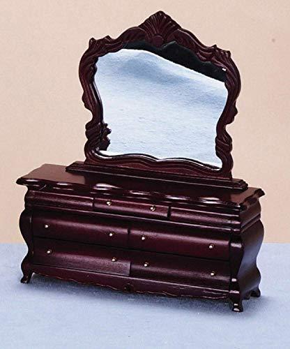 Melody Jane Casa de Muecas Disfraz Victoriano Tocador Caoba Miniatura Muebles de Dormitorio