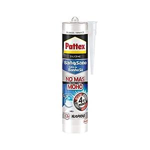 Pattex Baño Sano No Más Moho, silicona antimoho e impermeable, silicona blanca duradera para cocina y baño, resistente silicona sanitaria, 1 cartucho x 280 ml