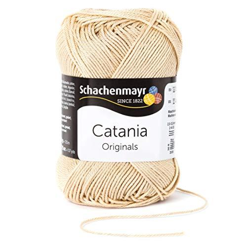 Schachenmayr since 1822 Catania, 9801210-00404, color: sand, presentación: 50g, Hilos para tejer a mano