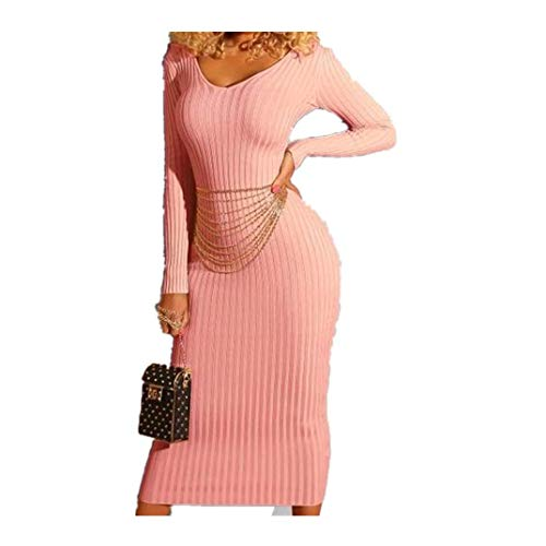 Great Deal! Aurorax 2019 New Womens Casual Knitted Maxi Dress for Spring Sexy Bodycon Loose Fit Long...