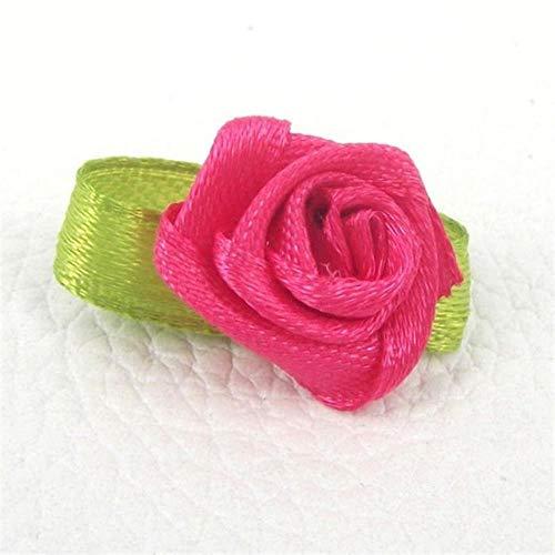 100st kunstmatige mini zijde rozetten stof bloemen hoofden maken van handgemaakte satijnen lint rozen diy ambachtelijke voor bruiloft decoratie, roos
