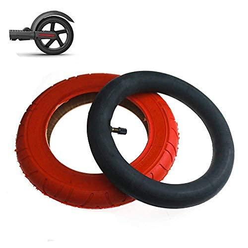 Neumáticos para scooter eléctrico, neumáticos interiores y exteriores rojos 10x2, inflable de boca recta, antideslizante, resistente al desgaste, adecuado para neumáticos modificados para scooter M3