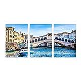Pintura decorativa de arte de pared,Famoso canal de la ciudad vieja Venecia Itali, lienzo de arte moderno, decoración de pared del hogar para sala de estar, comedor, dormitorio, 7.9x11.8 pulgadas