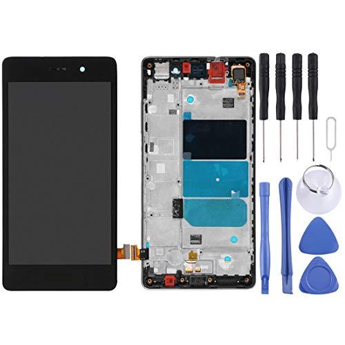 MENGHONGLLI Pantalla LCD del teléfono Celular para Huawei P8 Lite Pantalla LCD y digitalizador Conjunto Completo con Marco Pantalla táctil del teléfono