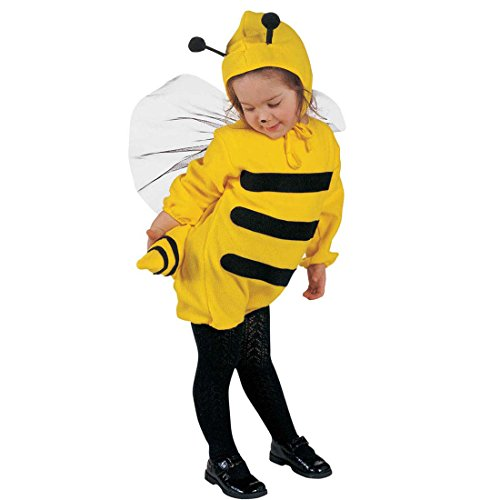 NET TOYS Déguisement d'abeille pour Enfant 110 cm 3-4 Ans Tenue d'insecte pour Petite Fille Abeille Habit d'enfant Cartoon guêpe Costume Animal déguisement de Carnaval Fillette