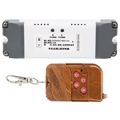 ASHATA Interruptor Inteligente de relé de 2 Canales, Compatible con Control de Voz, aplicación de Control Remoto por Voz, operación Conveniente