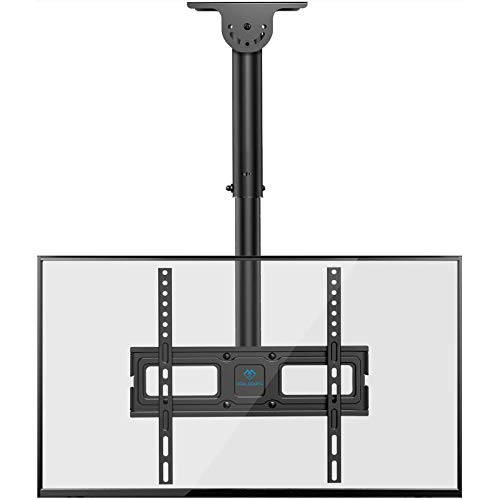 PERLESMITH Ceiling TV Mount- Full Motion Hanging TV Mount Bracket Fits 26-55 Inch LCD LED OLED 4K TVs, Flat Screen Display-TV Pole Mount Holds up 99lbs with VESA 400x400mm, Black (PSCM2)