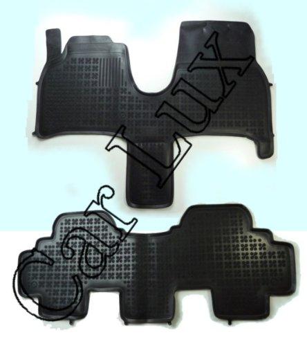 Car Lux AR01828 - Alfombras Alfombrillas de goma tipo cubeta 3D borde alto para el 807