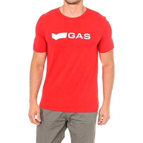 Gas - logo gas - Tshirt hombre - XXL - Rojo