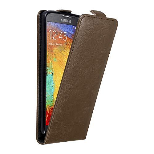 Cadorabo Hülle für Samsung Galaxy Note 3 NEO in Kaffee BRAUN - Handyhülle im Flip Design mit unsichtbarem Magnetverschluss - Hülle Cover Schutzhülle Etui Tasche Book Klapp Style