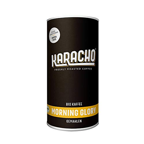 Karacho Morning Glory | Bio Kaffee | gemahlen | Freshly Roasted Coffee | wiederverschließbare Aromadose | für Handfilter, French Press, Filtermaschine und Aeropress | 340g