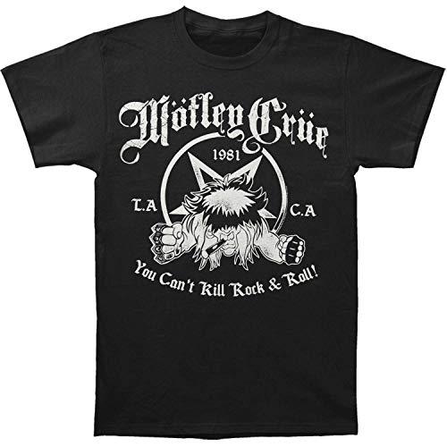 Motley Crue T-Shirt You Can't Kill Rock & Roll da Uomo in Nero