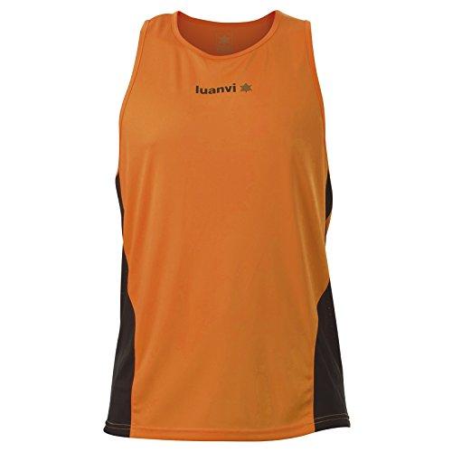 Luanvi Race Camiseta de Running, Hombre, Naranja, L