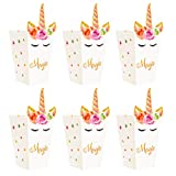 Toyvian Popcorn Bag Tema Party Paper Popcorn Box 12 Pz Unicorno Custodia Regalo Favore Accessori per Feste di Compleanno