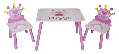 Kiddi Style Princess Themed Wooden Table and Chair Set