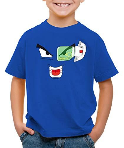 style3 Scouter 9000 Goku T-Shirt pour Enfants, Couleur:Bleu, Taille:104