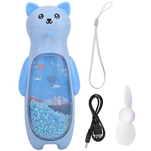 Meiyya Enfriador de Verano Duradero y Resistente, Ventilador de Mano Recargable por USB de Noche, Ventilador portátil de 2 Colores, Ventilador Recargable por USB, para niños y niñas(Blue)