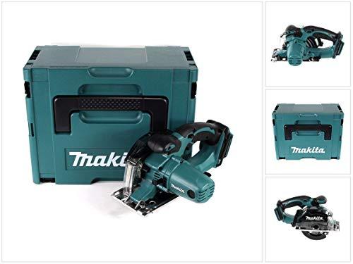 Makita DCS 552 ZJ 18 V Akku Metall Handkreissäge 136 mm im Makpac - ohne Akku und Ladegerät + Sägeblatt und Schutzbrille