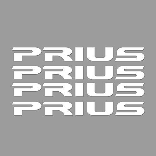 SLONGK 4PCS Auto Fensterwischer Aufkleber, für Toyota C-HR RAV4 Yaris Land Cruiser Avalon Hochländer Mirai Avensis Prado Prius