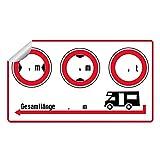 WoMoStyle Aufkleber für Wohnmobil, Wohnwagen, Caravan |Breite | Höhe | Gewicht | Länge |...