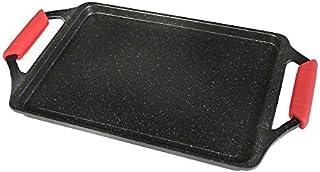 WECOOK! 10701 Bandeja Asadora inducción, Antiadherente Titanio, Negro, 43 x 25 cm