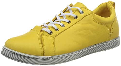 Andrea Conti 1770003, Zapatillas para Mujer, Amarillo, 42 EU