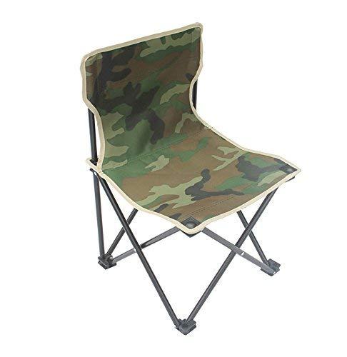 LDM Silla Plegable al Aire Libre Camuflaje Tres Piezas Silla de Ocio portátil autónoma Mesa y Silla de Camping