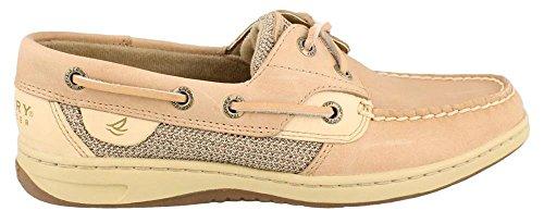 Sperry Womens Bluefish Boat Shoe, Linen/Oat, 9 Narrow