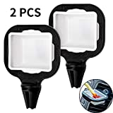LUTER 2pcs Dip Clip In-car Sauce Cup Holder Dip Set Ketchup Mini Dipping Cups Car Accessories Sauce Container for Vents of Vehicle