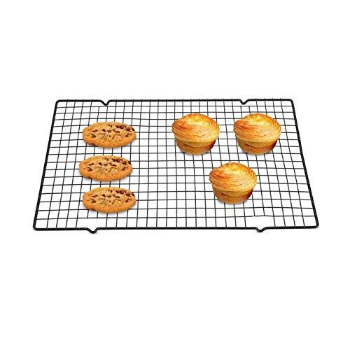 Cooling Grid Kühlregale Backen Abkühlgitter rechteckiges Abkühlgitter Cookie Kühlregal Edelstahl Grillregal Cooling Baking Rack Backen Kuchen Kühlung Grid für Keks/Plätzchen/Brot/Kuchen(1 Stück)