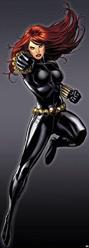 Fototapete Black Widow Schwarze Witwe Marvel Comic - Größe 73 x 202 cm, 1-teilig