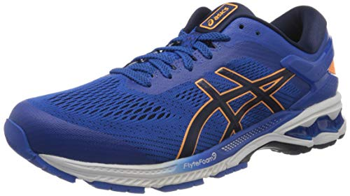 ASICS Men's Gel-Kayano 26 Running Shoe, Tuna Blue/White, 6 UK