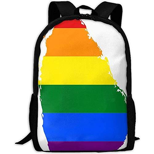 Rugzak, LGBT Vlag Kaart van Sri Lanka Volwassene Reizen Rugzak School Casual Daypack Oxford Outdoor Laptop Bag College Computer Schoudertassen