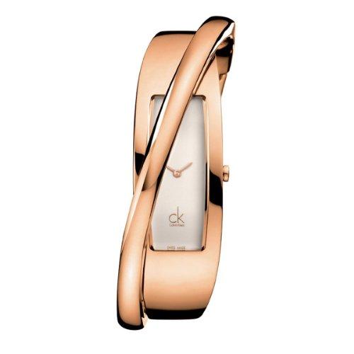 Calvin Klein K2J23601 - Reloj analógico de mujer de cuarzo con correa de acero inoxidable