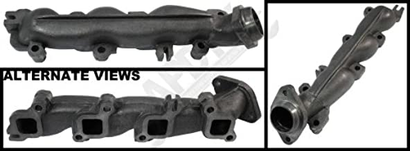 APDTY 53032197AY Exhaust Manifold Left Driver-Side Fits 5.7L Hemi On 2003-2008 Dodge Ram 1500 2500 3500 Pickup (Cast Iron Assembly; Replaces 53032197AY, 53032197AE, 53032197AB)