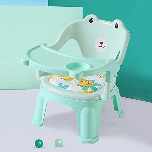 TYUXINSD Hermoso Trona, sillas Altas para bebés y niños pequeños Plegables   Bandeja extraíble, Rosa (Color : Green)