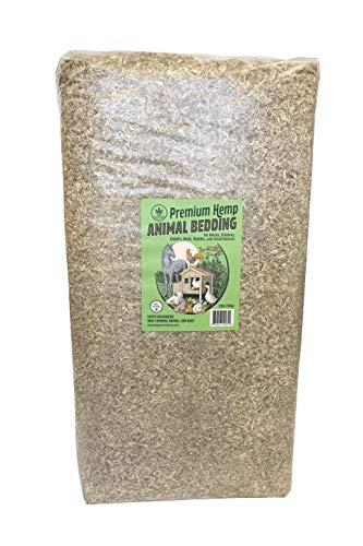 Happy Trees Premium Hemp Animal Bedding for Chicken Coop, Horses, Rabbits, Hamsters, Reptiles, Small Pet - All Natural, Super Absorbent, Low Dust, High Thermal Rating - 33lb Bale