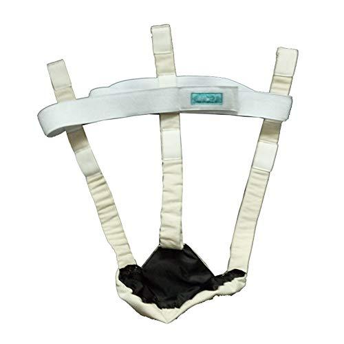 Zidao Suspensorio Suspensorio En Apoyo de testículos escrotales, la Cintura 0-180Cm,Blanco