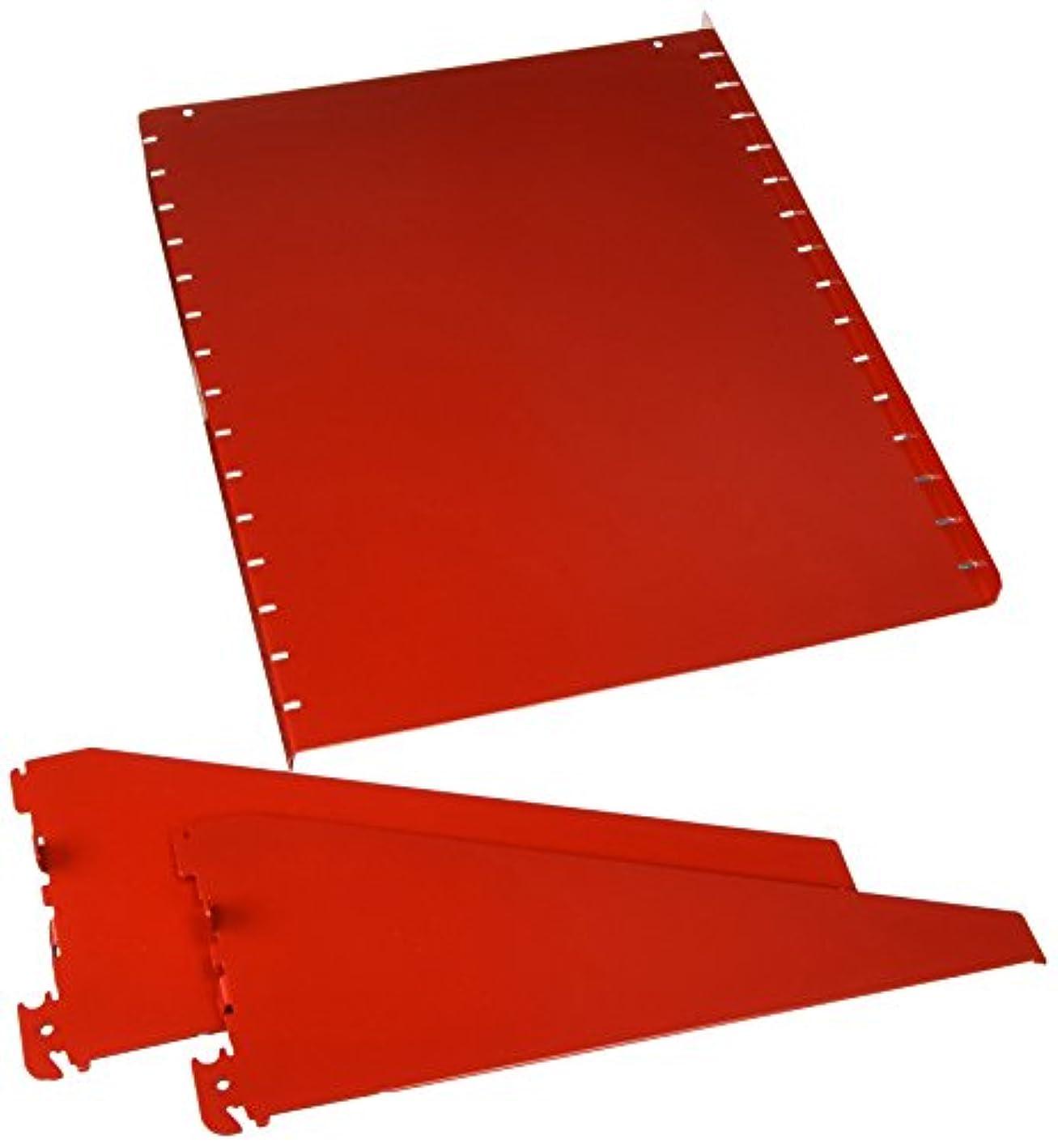 Wall Control Pegboard Shelf 12in Deep Pegboard Shelf Assembly for Wall Control Pegboard and Slotted Tool Board – Red