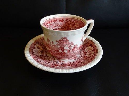Villeroy & Boch Rusticana rot: Mokkatasse / kleine Tasse mit Unterteller