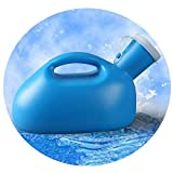 WERTYG Urinal Männer Urinale PET runden Mund Dickes Plastik große Kapazitäts 2000ml Deodorant Leakproof mit Deckel leicht zu tragen Unisex-Urinal-Flasche