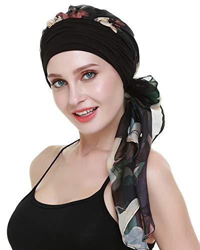 FocusCare Krebs - hüte haarausfall Frauen Chemo turbane schals Bambus Viskose Kopfbedeckung