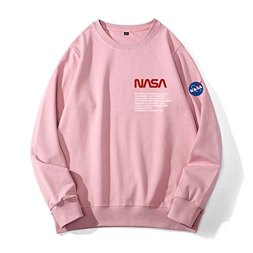 El suéter de los hombres de la NASA, los modelos de otoño e invierno de los hombres, cómodos y casuales, de algodón todo coincidente, cuello redondo, invierno sin capucha, sin capucha y terciopelo, ch